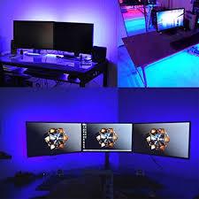 under desk led lighting. Rainbow-LED-Light-Strip-Kit-Airgoo-2017-New- Under Desk Led Lighting U