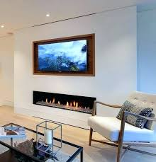 over fireplace ideas design tip recess a above tv ab