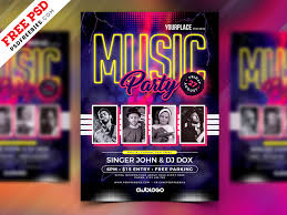 Music Party Flyer Template Psd Psdfreebies Com