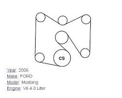 2006 ford mustang v6 4 0l serpentine belt diagram 2006 ford mustang v6 4 0l serpentine belt diagram