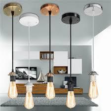 image is loading e27 ceiling rose light holder iron pvc fabric