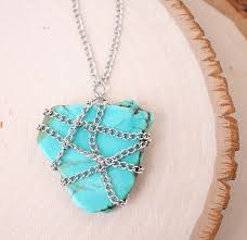 diy chain wrapped stone necklace gina michele