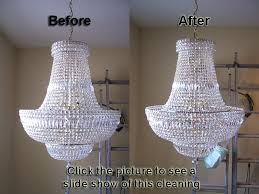best way to clean a chandelier of this classically designed crystal