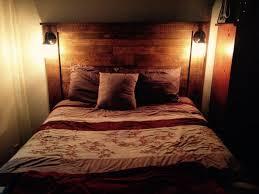 headboard lighting. Rustic Pallet Headboard With Lights Lighting