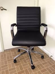 realspace modern comfort series winsley mid back bonded leather office chair black for in oviedo fl offerup