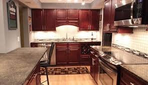 Cherry kitchen cabinets Traditional Forevermark Cherry Glaze Cabinets Captain Cabinets Cherry Glaze Tall Wall Pantry Cabinets Discount Kitchen Cabinets