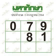 หวยมหาทักษา 1/7/64 รวมชุดเลขจากเซียนหวย เลขเด็ด 2 ตัวและ 3 ตัว