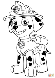 Small Picture Paw Patrol Marshall coloring page Free Printable Coloring Pages