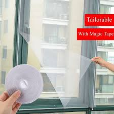 diy door window gauze yarn net mesh netting white tulle magic tape insect fly bug screen curtain mosquito net protector hanging mosquito net the mosquito