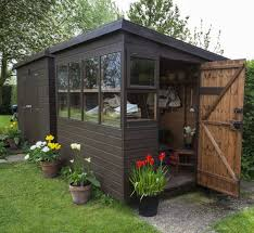 Small Picture 19 Small Quaint Outdoor Gardening Sheds Brown paint Exterior