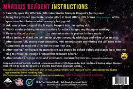 Mdma Color Chart Marquis Reagent Wim Scientific Laboratories