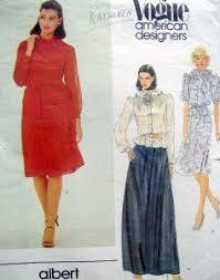 Albert Nipon Size Chart 2749 Vogue Albert Nipon Blouse Skirt Belt Flower Pattern