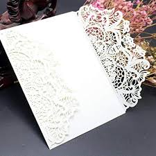 Elegant Invitation Cards Wedding Invitation Card Xshuai 10x Elegant White Laser Cut Wedding Invitations Cards Kit With Lace And Hollow Pattern Cardstock For Baby Shower