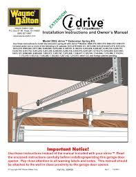 wayne dalton garage door opener manualWayneDalton IDRIVE 3982 User Manual  36 pages