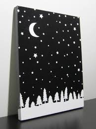 advent calendar day 20 starry night sky canvas girlsheartbooks easy canvas paintingblack