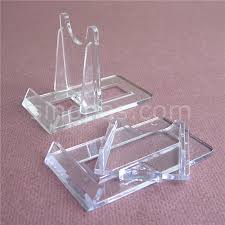 Small Plate Display Stand Simple Plastic Twist Adjustable Sliding Stand Small 32x32 Card Coin Plate
