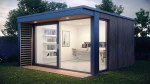 Small Picture Prefabricated Garden Office Roostu0027s R1 Office Pod Makes A