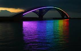 spectacular lighting. Collect This Idea Spectacular Light Installation: Rainbow Bridge Glowing In The Night Taiwan Lighting N
