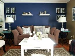 blue accent wall living room navy blue accent wall love how bright and rich it is blue accent wall living room