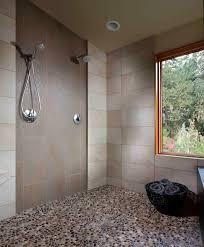 los angeles pebble shower floor bathroom modern with metal drain ...