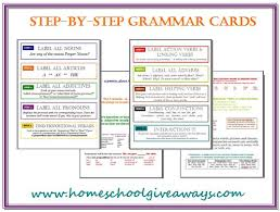 Grammar Chart Printables Free Step By Step Grammar Cards And Memory Work Cards