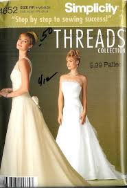 Simplicity Wedding Dress Patterns Magnificent Simplicity Sewing Pattern Bridal Evening Gown Bridesmaid Prom Party