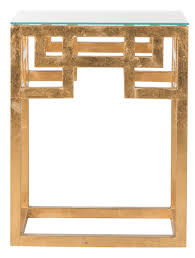 greek style furniture. BYRAM GREEK KEY GLASS TOP END TABLE FOX2574A ACCENT TABLES Greek Style Furniture D