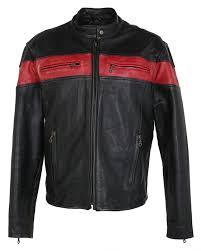 leather cafe racer biker jacket l