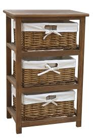 wicker basket cabinet. Delighful Cabinet Bentley Home Wooden Storage Cabinet With 3 Wicker Baskets U2013 Available In  White And Natural 1 With Basket