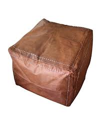 tan leather ottoman. Plain Tan Six Canyons Square Cognac Distressed Leather Ottoman U2013 Authentic Handmade  Moroccan Pouf Delivered Unstuffed With Tan
