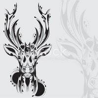 Kmenové Jelení Hlava Tetování Vektory Z Knihovny Clipartme