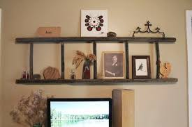 Horizontal Shelving 30 Cute Ladder Shelf Examples