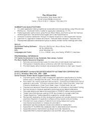 resume examples qa analyst sample resume software quality qa resume examples sample qa