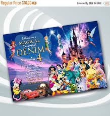 On Sale 25 Disney Castle Invitation Disney Birthday Party