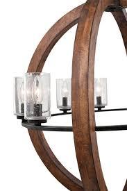 details about kichler lighting grand bank auburn stained chandelier 1 tier medium new