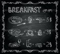 Chalkboard Menu Templates Breakfast Chalkboard Menu Template Download Chalkboard Menu