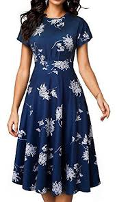 Homeyee Womens Short Sleeve Floral Casual Aline Midi Dress A102 White Summer Dresses For Juniors Black Dressed From Homedress 51 0 Dhgate Com