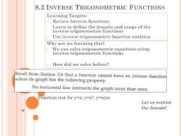 8 2 inverse trigonometric functions n