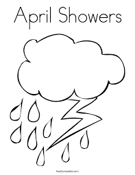 Small Picture April Showers Coloring Page Twisty Noodle