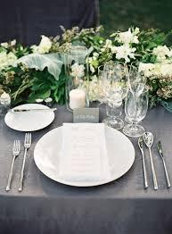 white table settings. A Saddle Rock Ranch Wedding In Malibu, California White Table Settings E