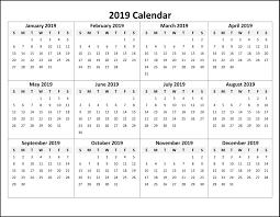 Online Printable Calendar 2019 Calendar2019