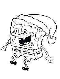 Spongebob Christmas Coloring Pages Free Printable At Getdrawingscom