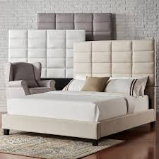 Tower High Profile Upholstered Queen Bed iNSPIRE Q Modern.