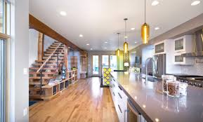 modern house lighting. Denver House Features Pharos Pendant Lights Over Kitchen Contemporary Island Pendants Modern Lighting G