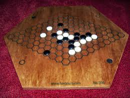 Vintage Wooden Board Games hexboard 24