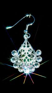 sunburst crystal chandelier earrings