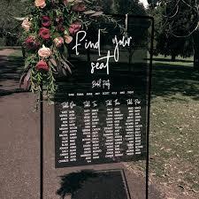 Acrylic Wedding Seating Chart Acrylic Seating Chart Black