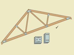Design Of Fink Type Roof Truss How To Build A Simple Wood Truss 15 Steps With Pictures