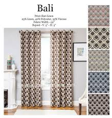 bali ikat curtain dry panels in standard size and extra long 108 inch curtains or