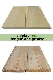 shiplap vs tongue and groove which